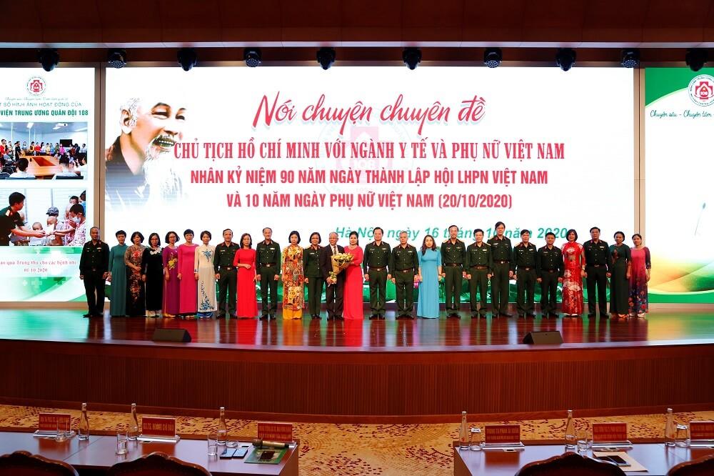 Bệnh viện TWQĐ 108 hướng đến kỷ niệm 90 năm ngày thành lập Hội LHPN Việt Nam và 10 năm ngày Phụ nữ Việt Nam (20/10/2020)
